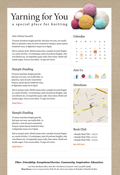 custom email template design services econnect email